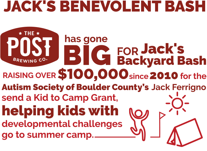 Jack's Benevolent Bash - Philanthropic Donations to Autism Society of Boulder County by The Post Brewing Company and Big Red F Restaurant Group
